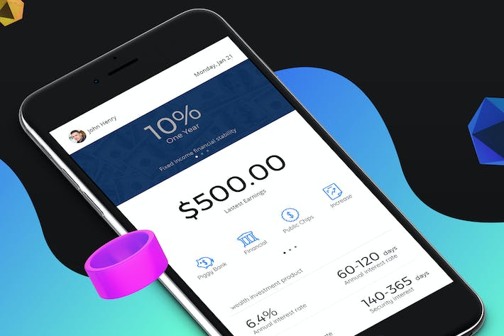 Thumbnail for Finance 3 Mobile Ui - H