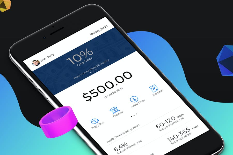 Finance 3 Mobile Ui - H