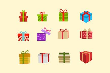 12 Christmas Present Icons