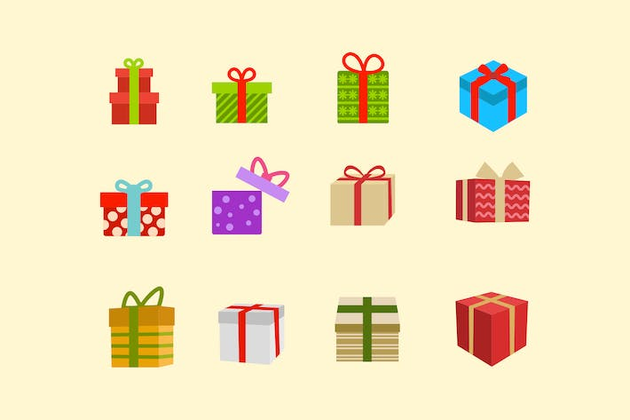 Thumbnail for 12 Christmas Present Icons