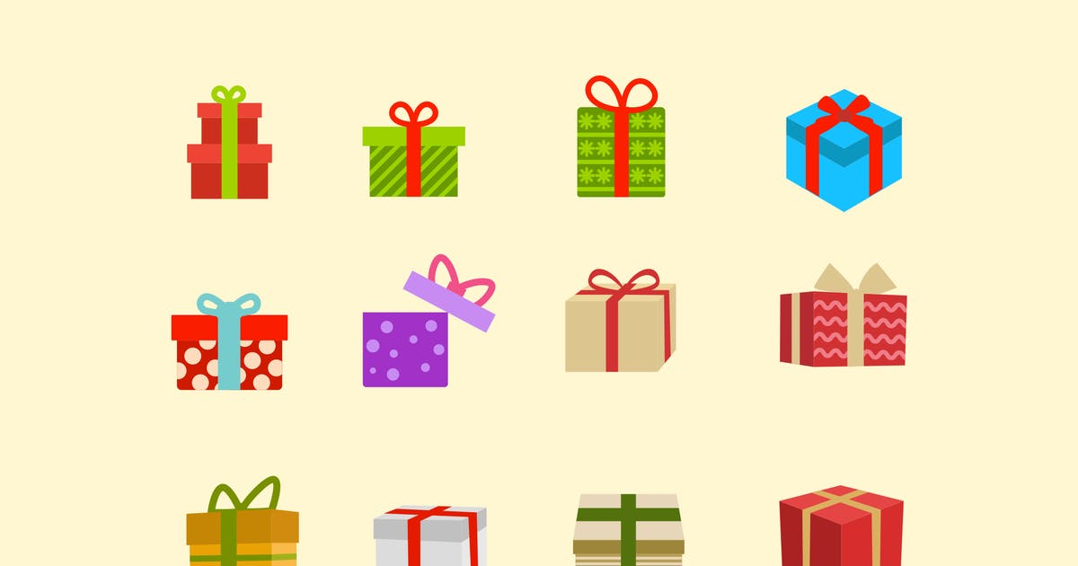 Download 12 Christmas Present Icons by creativevip