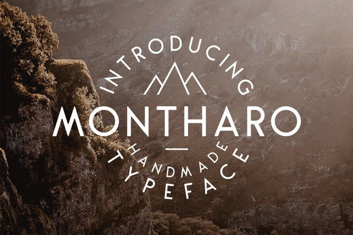 Thumbnail for Montharo Typeface + Extras