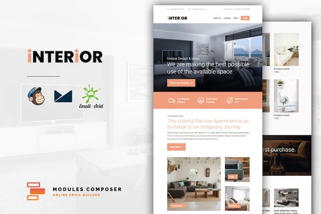 Interior - E-Commerce Responsive Email Template