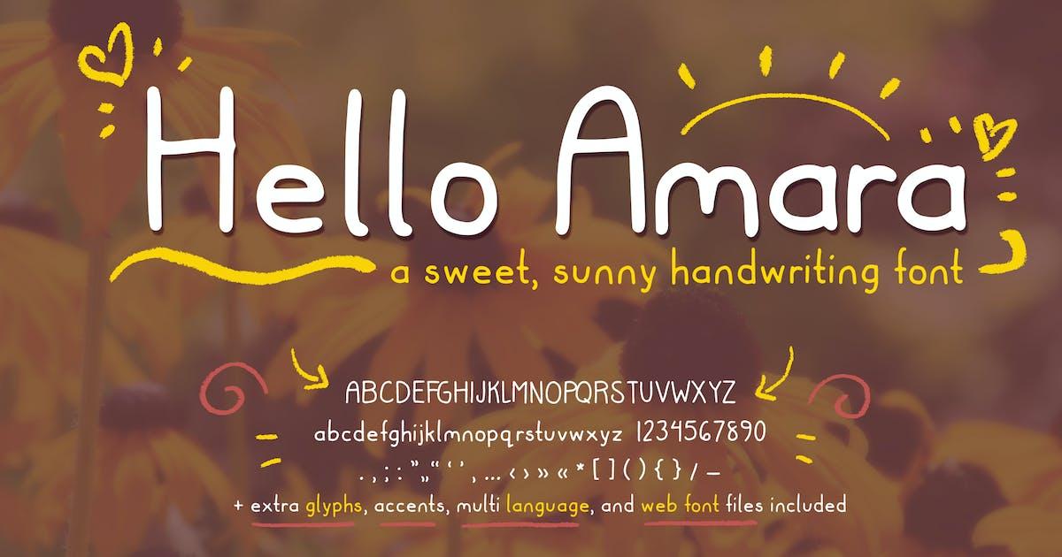Download Hello Amara Cute Handwriting Font (Handwritten) by SunshineFonts