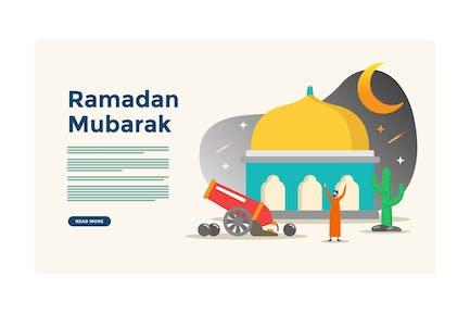 Ramadan Moubarak Illustration