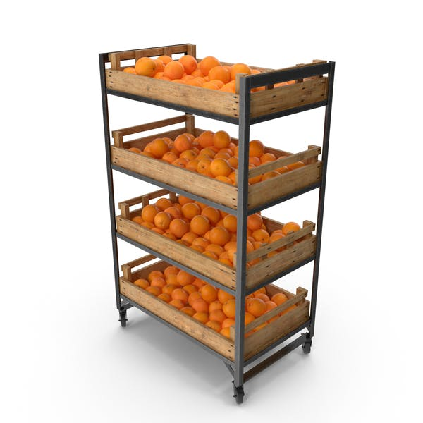 Retail Shelf with Oranges