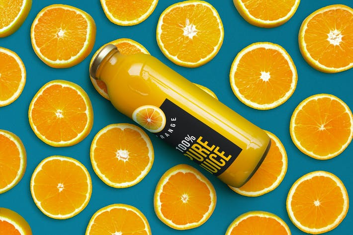Thumbnail for Orange Juice Bottle Mockup