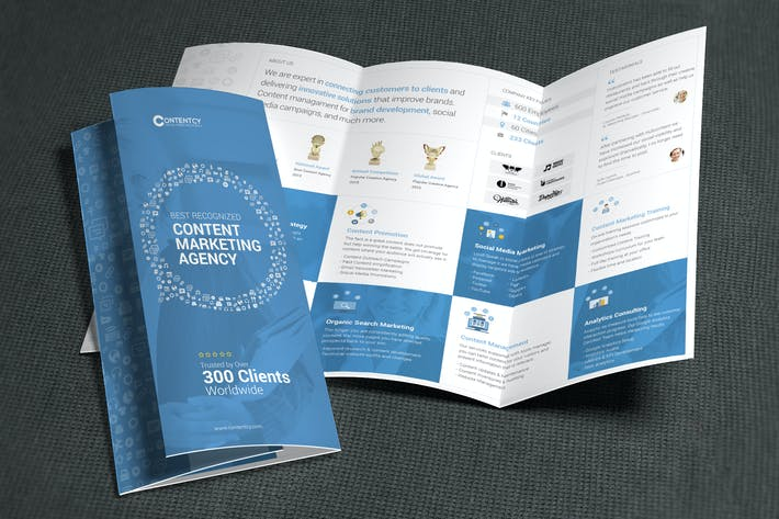 Thumbnail for Content Marketing Trifold Brochure