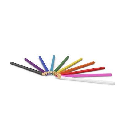 Círculo de lápices de colores