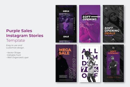 Purple Sale Instagram Story Template