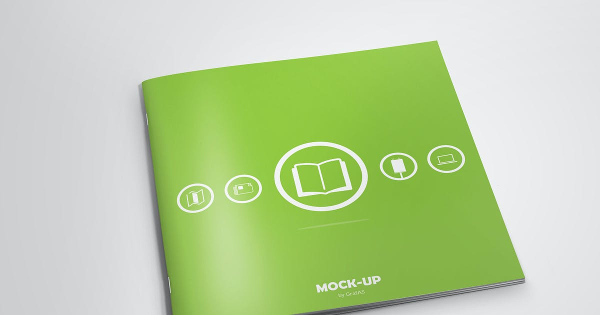 Download Square Brochure Mock-up by PuzzlerBox
