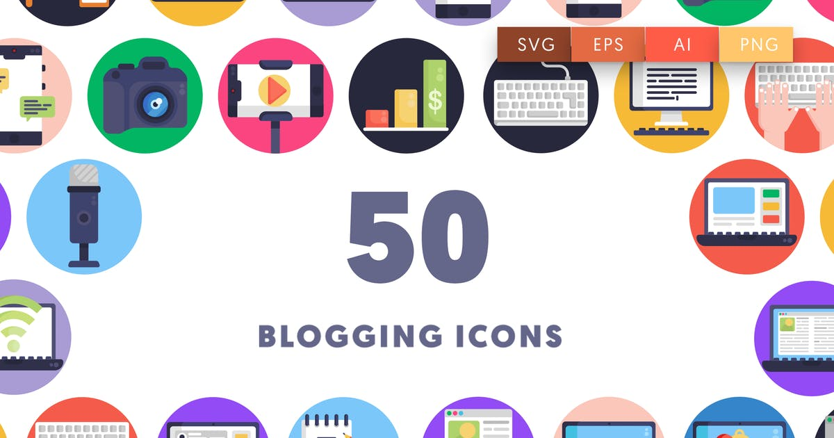 Download 50 Blogging Icons by thedighital