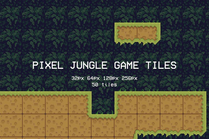 Thumbnail for Pixel Jungle Game Tiles