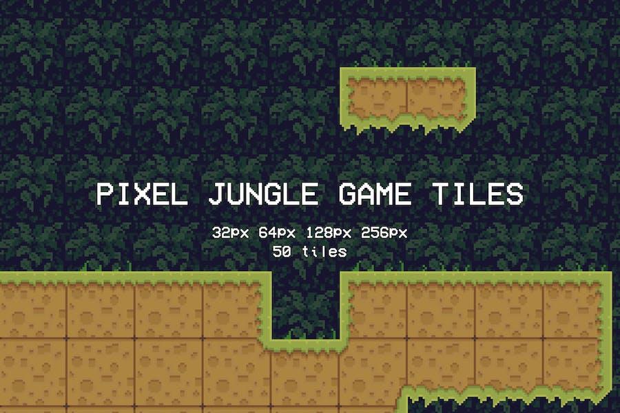 Pixel Jungle Game Tiles