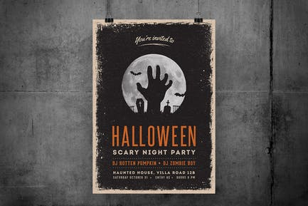 Halloween Scary Night Party Flyer