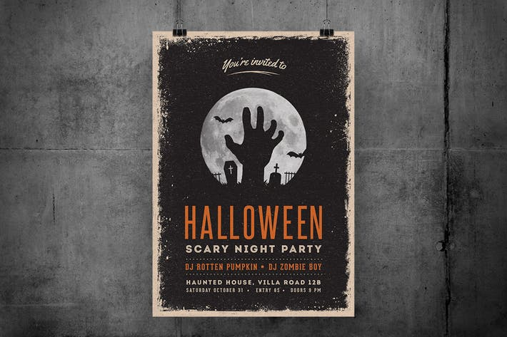 Thumbnail for Halloween Scary Night Party Flyer