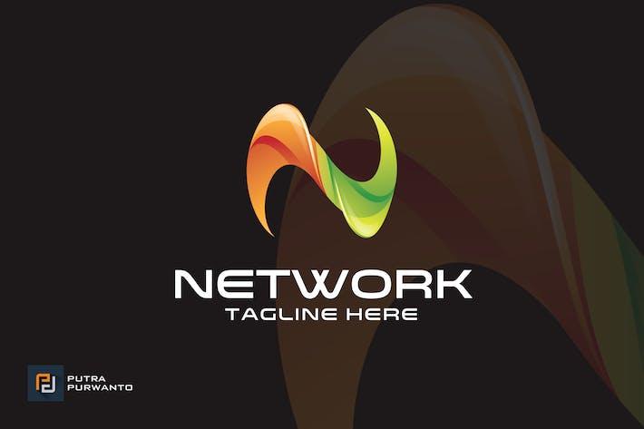 Thumbnail for Network / Letter N - Logo Template