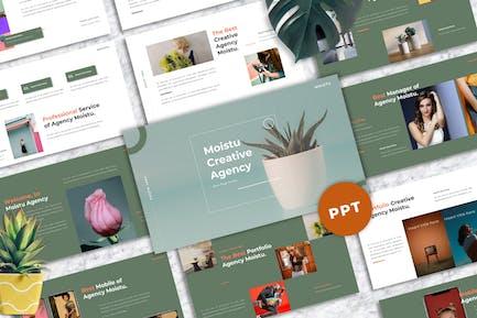 Moistu - Creative Powerpoint Templates