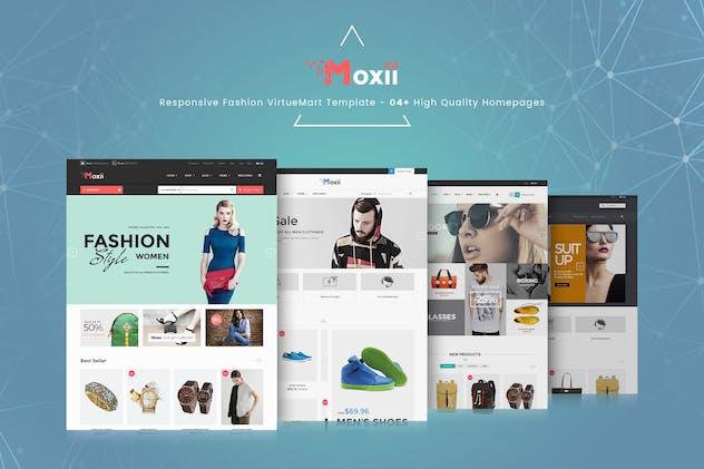 Moxii - Responsive Fashion VirtueMart Template