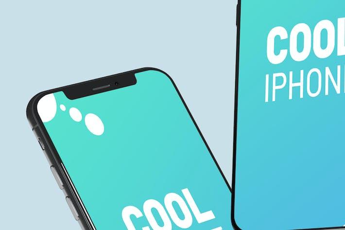 Thumbnail for Stylish Floating Iphone - Mockup