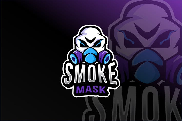 Smoke Mask Esport Logovorlage