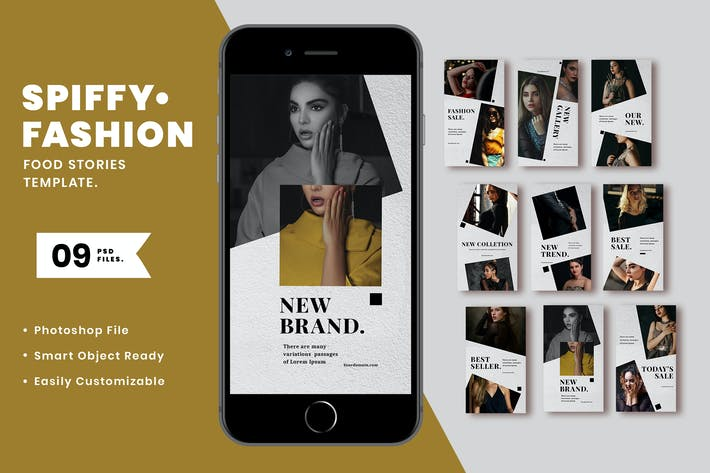 Thumbnail for Spiffy Fashion Instagram Stories Template