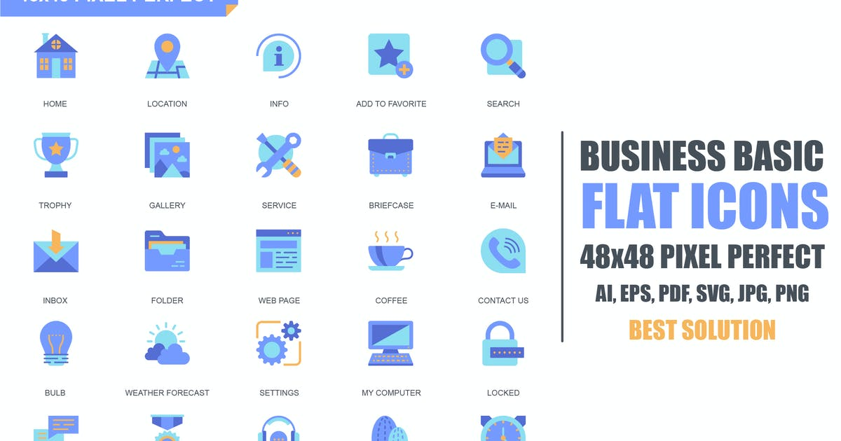 Download Simple Set Basic Flat Icons by alexdndz