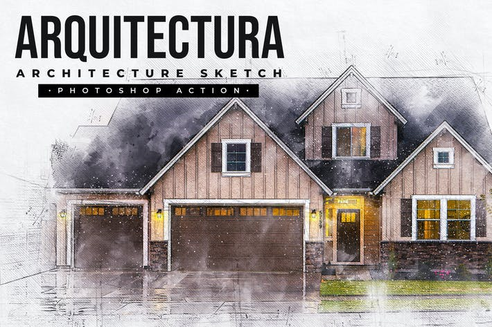 Thumbnail for Arquitectura - Архитектура Sketch Photoshop Actio