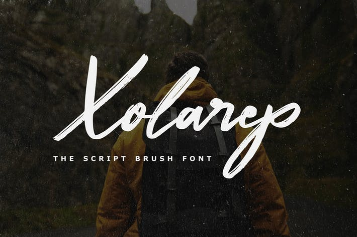 Thumbnail for Xolarep - The Script Brush Font
