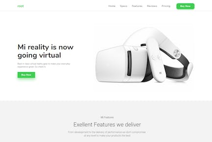 Root Multi-Use Landing Page Template