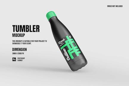 Insulated Vacuum Steel Bottle - Mockup