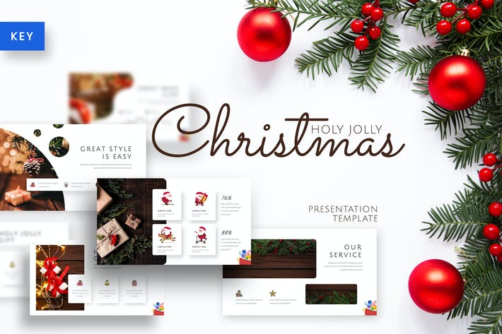 Thumbnail for Holy Joly - Christmas Keynote Template