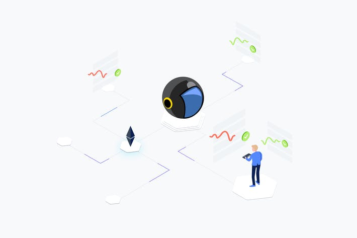Cover Image For AI Signals Trading Isometric Illustration