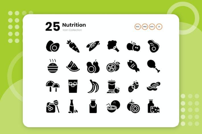 25 Питания Символ Икона