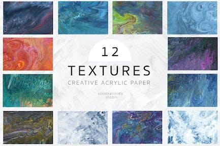 Fluid Acrylic Hand painted Textures