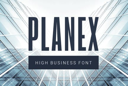 Planex| high business font