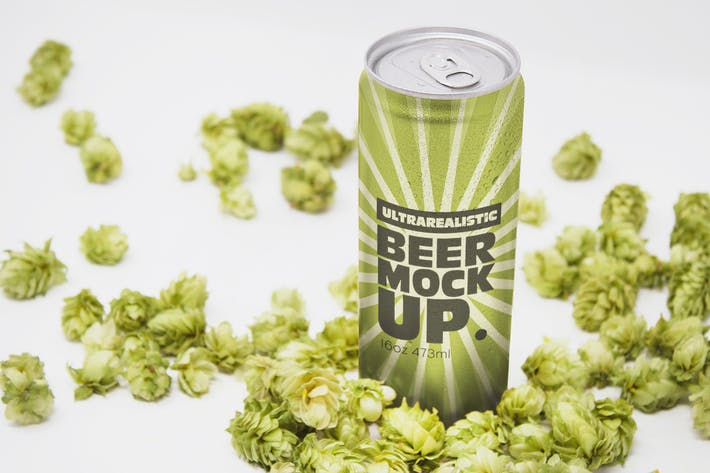 Thumbnail for Perspective 16oz Beer Can Mockup