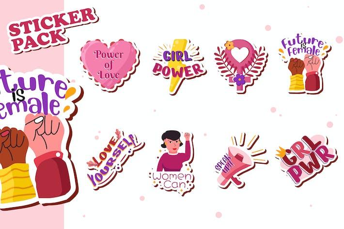 Weibliche Sticker