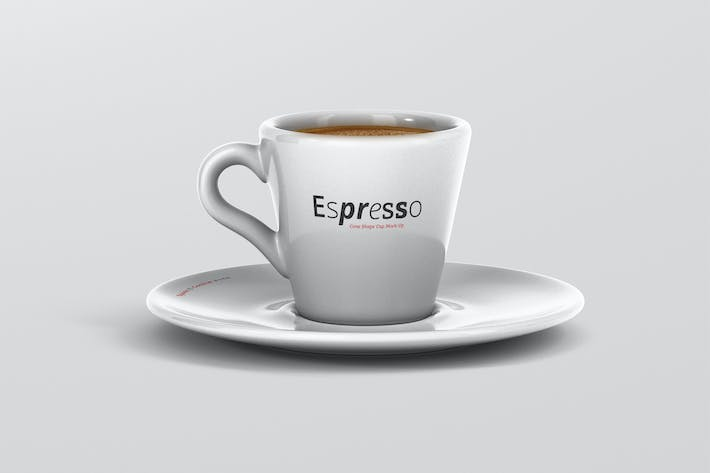 Thumbnail for Espresso Cup Mockup - Cone Shape