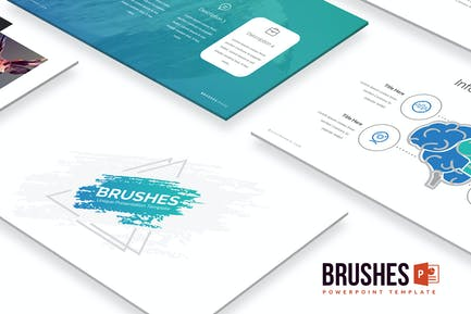 Brushes Powerpoint Template