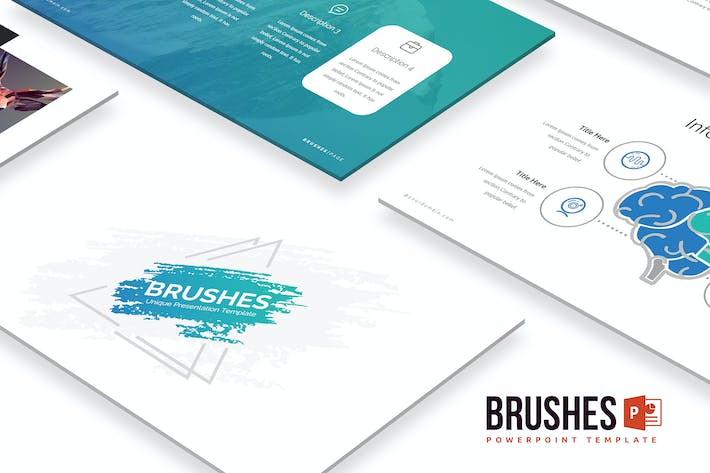 Thumbnail for Brushes Powerpoint Template