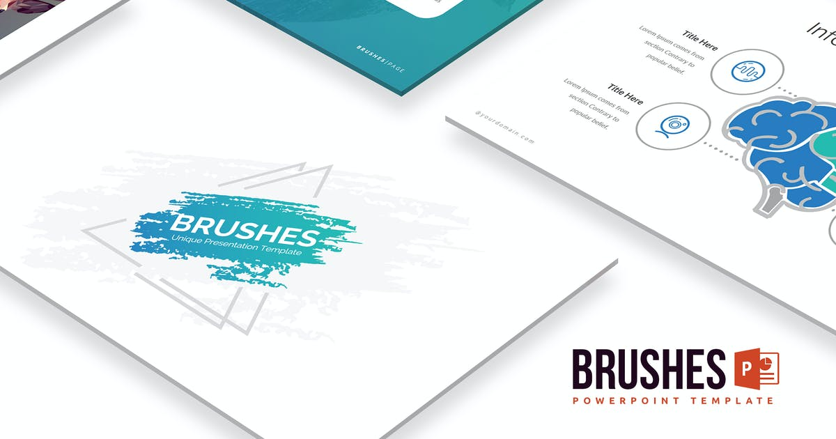 Download Brushes Powerpoint Template by Unknow