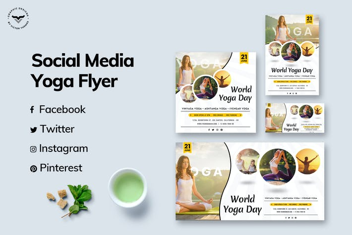 Thumbnail for Yoga Social Media Templates