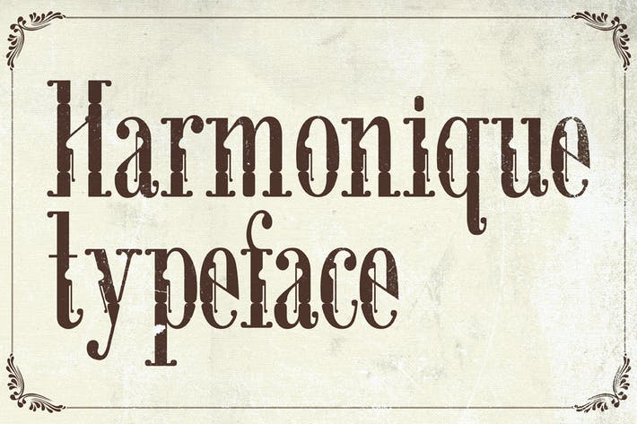 Thumbnail for Harmonique Typeface
