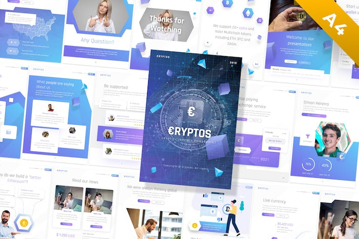 Thumbnail for Cryptos - Portrait Crypto Currency Template