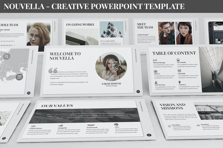 Thumbnail for Nouvella - Creative Powerpoint Template