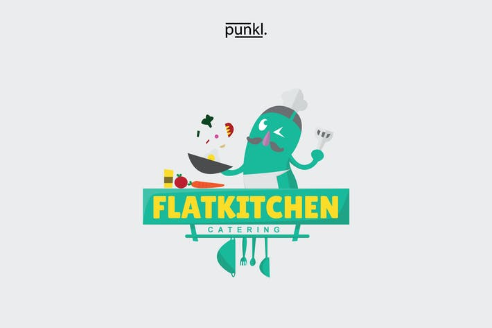 Thumbnail for FlatKitchen Mascot Logo