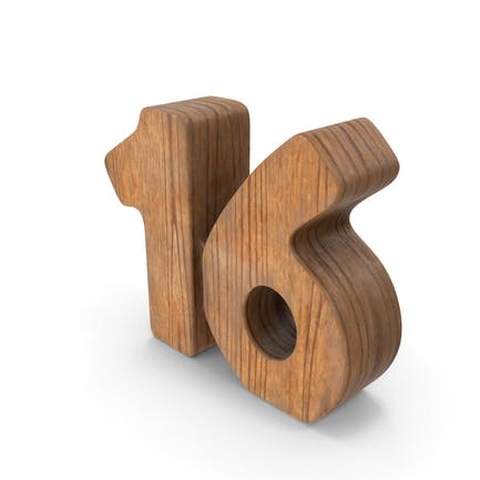 16 Wooden Number