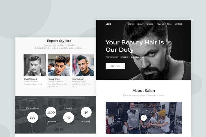 Thumbnail for Hair Salon - Email Newsletter
