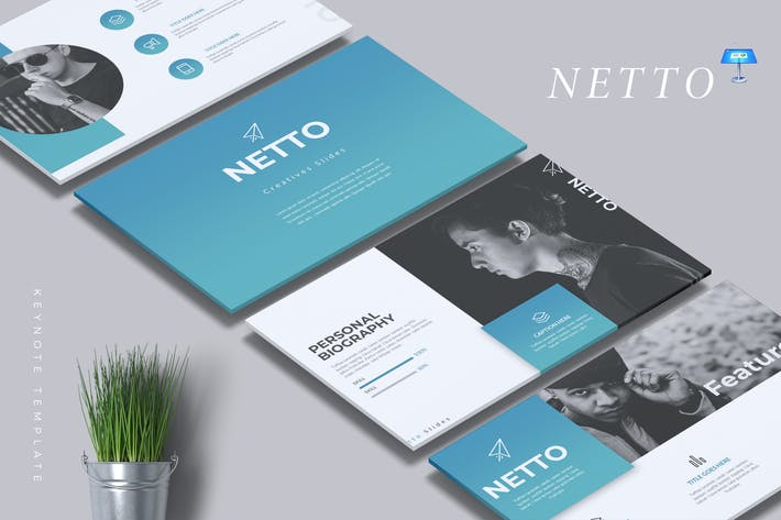 Thumbnail for NETTO - Creative Keynote Template